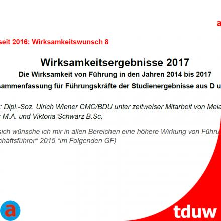 Wirksamkeitseregebnisse 2017 - Schweiz